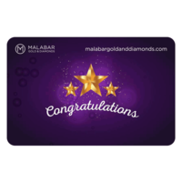 Malabar Gold and Diamonds Congratulations Gift Voucher, 15000