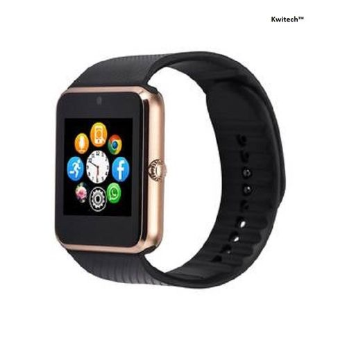 Kwitech™ Bluetooth 3.0 Smart Watch GT08 with SIM/Memory Card Slot & Camera For all Android Smart Phones & Apple iOS - Rose Gold