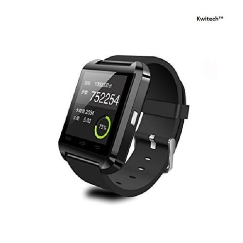 Kwitech™ Bluetooth 3.0 Smart Watch U8 For all Android Smart Phones & Apple iOS - Black