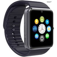 KwitechKwitech™ Bluetooth 3.0 Smart Watch A1 with SIM/Memory Card Slot & Camera For all Android Smart Phones & Apple iOS - Black