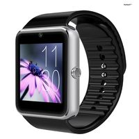 Kwitech™ Bluetooth 3.0 Smart Watch GT08 with SIM/Memory Card Slot & Camera For all Android Smart Phones & Apple iOS - Silver
