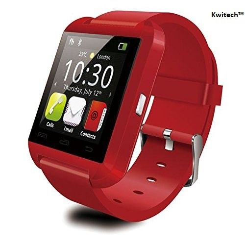 Kwitech™ Bluetooth 3.0 Smart Watch U8 For all Android Smart Phones & Apple iOS - Red