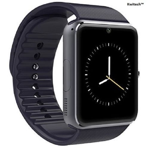 Kwitech™ Bluetooth 3.0 Smart Watch GT08 with SIM/Memory Card Slot & Camera For all Android Smart Phones & Apple iOS - Black
