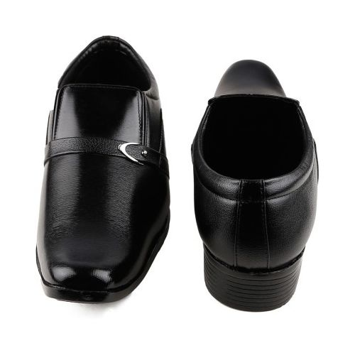 one99 formal man s Black Without Laces shoes LU04, 9