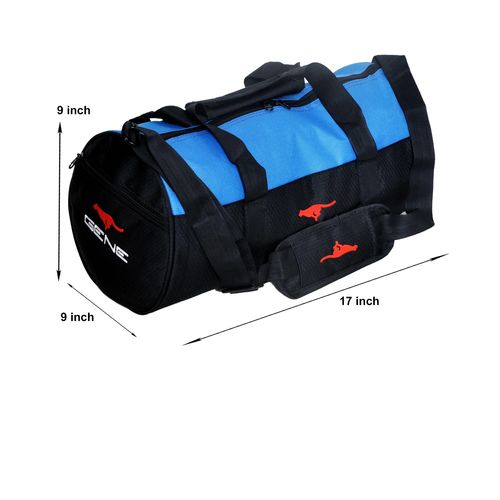 Gym Bag - -Round shape (MG-1014-BLU-BLK)