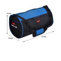 Gym Bag - -Round shape (MN-0288-BLU-BLK)