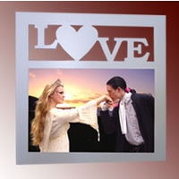 Customized Photo on Wood & Glass Frame - Love - Unique Gifts YashGifts. in