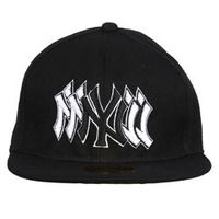 Capskart Snapback Fashion Cap with NY Embroidery Black