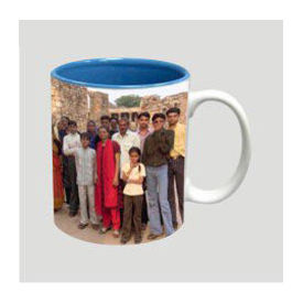 Blue color inside Two tone Photo Coffee Mug