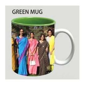 Green color inside Two tone Photo Coffee Mug