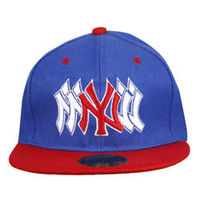 Capskart Snapback Fashion Cap with NY Embroidery Royal Blue/Red