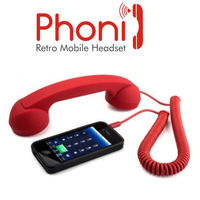 Portronics PHONI Black Retro Handset for iPhone, BlackBerry, Nokia, HTC, Samsung