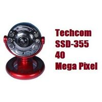 Techcom SSD-355 40 Mega Pixel WebCam With Mic, Night Vision & 6 White Led Lights