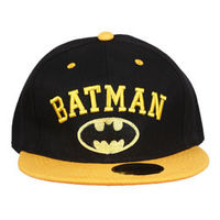 Capskart Snapback Fashion Cap with Batman Embroidery Black Yellow