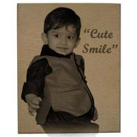 Photo Laser Engraved Wooden Plaque Small YashGifts. in