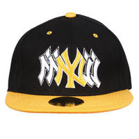 Capskart Snapback Fashion Cap with NY Embroidery Black/Yellow