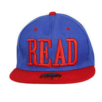 Capskart Snapback Fashion Cap with READ Embroidery Royal Blue/Red