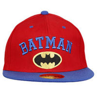 Capskart Snapback Fashion Cap with Batman Embroidery Red Blue