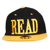 Capskart Snapback Fashion Cap with READ Embroidery Black/Yellow