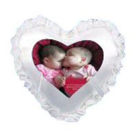 Heart Photo Cushion with Pillow White YashGifts. in