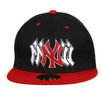 Capskart Snapback Fashion Cap with NY Embroidery Black Red