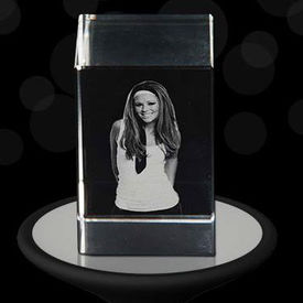 3D Crystal Cube Personalized with your Photo