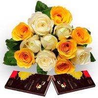 Roses with Dark Chocolate