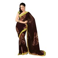 7 Colors Lifestyle Faux Georgette Abstract printed Saree - AAZSR551BSUHM