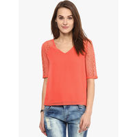 Harpa Solid Blouse,  orange, xxl