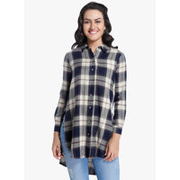 Only Checked Shirt,  navy blue, 36