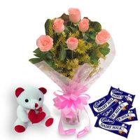 Flowers n Soft toy - EXDFNPLW9