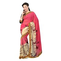 7 Colors Lifestyle Faux Georgette Printed Saree - ABGSR556BSUHM