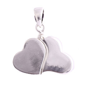 Duo Heart Silver Pendant-PD178