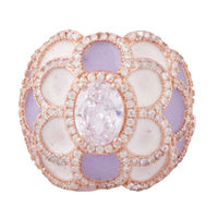 Helena Color Silver Ring-FRL163, 10