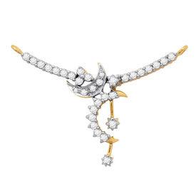 Drop Moon Diamond Mangalsutra- DATS013T