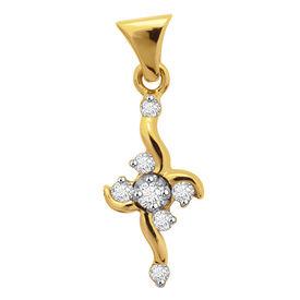 Floret Cosmo Diamond Pendant- BAP484