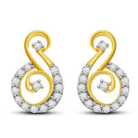 Claire Diamond Earrings- GUPS0548ER, si - ijk, 14 kt
