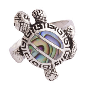 Mosiac Silver Unisex Ring-FRL185