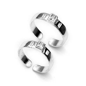 White Zircon Toe Ring-TR184