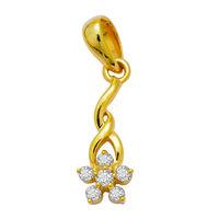 Spring Diamond Pendant- GUP069, si - ijk, 14 kt