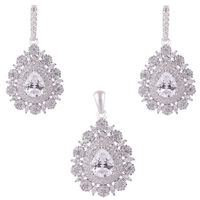 Bunch Zirconia Silver Pendant Set-PDS023