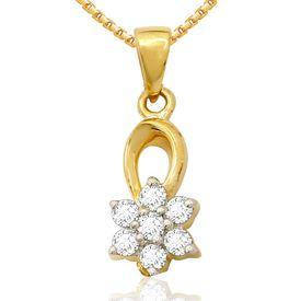 Droplet Floral Diamond Pendant- BAPS0217PA