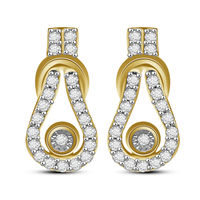 Mesh Diamond Earrings- AMPS0239ER, si - ijk, 14 kt