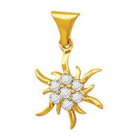 Shinning Diamond Pendant- DAP123, si - ijk, 14 kt