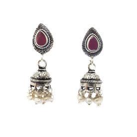 Royal Jhumki Silver Earrings- ER072