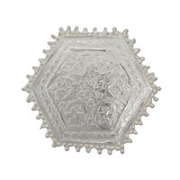 Hexagon Silver Pooja Chowki-GP027