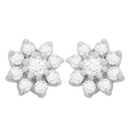 Snow Diamond Studs- GUPS0075ER