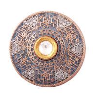 Gematric Mesh Silver Gold Ring-FRL162, 9