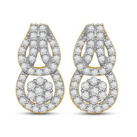 Edgy Diamond Earrings- AMPS0202ER, si - ijk, 18 kt