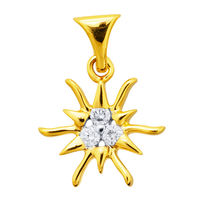 Sun Diamond Pendants- DAP125, si - ijk, 18 kt